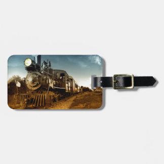 Ferrocarril de antaño etiquetas de maletas
