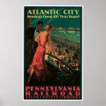 Ferrocarril de Atlantic City Pennsylvania Póster