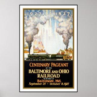 Ferrocarril de Baltimore de la impresión del poste Posters