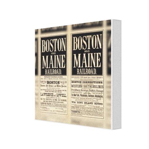 Ferrocarril de Boston y de Maine Impresiones De Lienzo