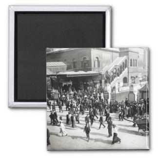Ferrocarril de calle amplia Londres c 1890 Iman Para Frigorífico