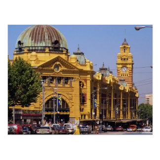 Ferrocarril de calle del Flinders, Melbourne, Tarjeta Postal