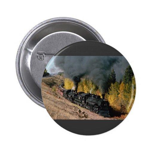 Ferrocarril de Cumbres y de Toltec, no. 487 y no.  Pin Redondo 5 Cm