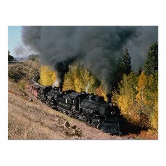 Ferrocarril de Cumbres y de Toltec, no. 487 y no.  Tarjeta Postal
