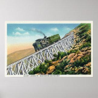 Ferrocarril de diente del Mt Washington, la escale Póster