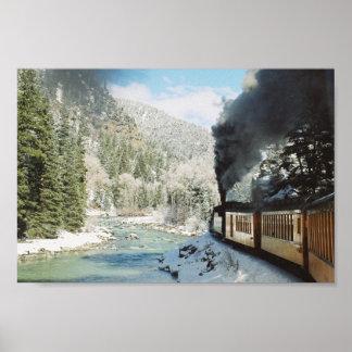 Ferrocarril de Durango Silverton en el invierno Posters