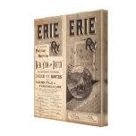 Ferrocarril de Erie Impresiones En Lienzo Estiradas