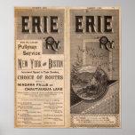 Ferrocarril de Erie Póster