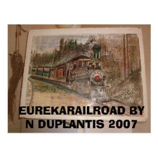 Ferrocarril de Eureka del normando Duplantis Tarjeta Postal