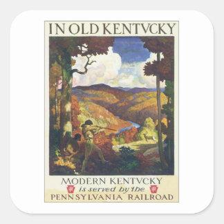 Ferrocarril de Kentucky Pennsylvania del vintage Pegatina Cuadrada