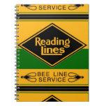 Ferrocarril de la lectura, línea cuadernos de la a