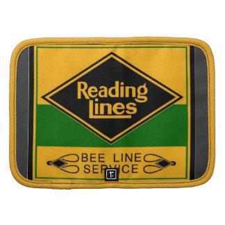 Ferrocarril de la lectura, línea folio de la abeja planificadores