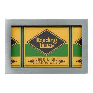 Ferrocarril de la lectura, línea hebilla del hebillas cinturon rectangulares