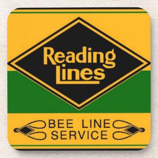 Ferrocarril de la lectura, línea prácticos de posavasos de bebidas