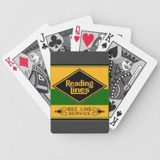 Ferrocarril de la lectura, línea servicio de la ab baraja cartas de poker