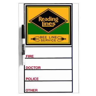 Ferrocarril de la lectura, línea servicio de la pizarras