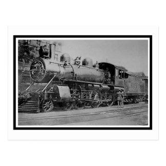 Ferrocarril de la locomotora del motor de vapor de tarjetas postales