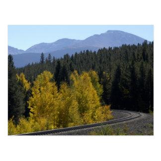 Ferrocarril de la montaña rocosa de Colorado Tarjetas Postales