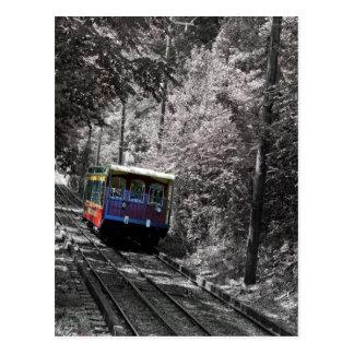 Ferrocarril de la pendiente tarjetas postales