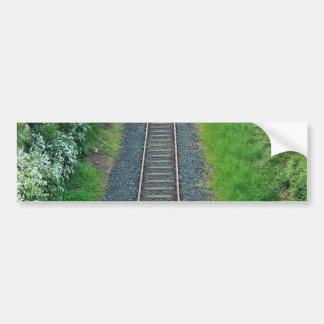 Ferrocarril de la pista del tren en la naturaleza, pegatina para auto