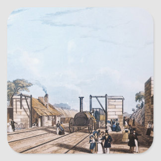 Ferrocarril de Liverpool y de Manchester: Pegatina Cuadrada