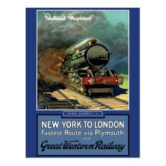 Ferrocarril de Londres Nueva York Great Western Tarjetas Postales
