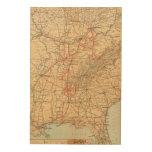 Ferrocarril de Louisville y de Nashville Impresión En Madera