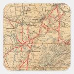 Ferrocarril de Louisville y de Nashville Pegatina Cuadrada