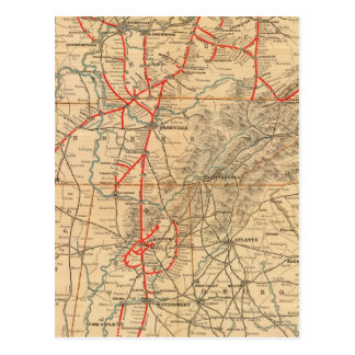 Ferrocarril de Louisville y de Nashville Postales
