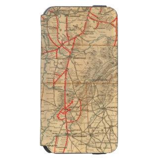 Ferrocarril de Louisville y de Nashville Funda Cartera Para iPhone 6 Watson