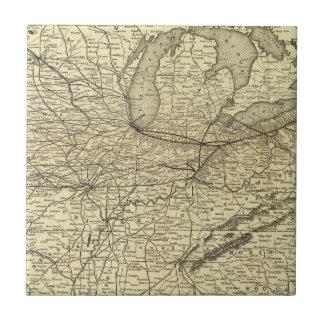Ferrocarril de Nueva York, de Pennsylvania y de Oh Teja Ceramica