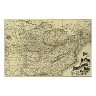 Ferrocarril de Nueva York de Pennsylvania y de Oh Posters