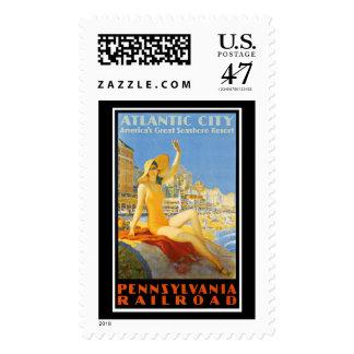 Ferrocarril de Pennsylvania a Atlantic City Timbres Postales