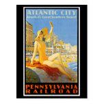 Ferrocarril de Pennsylvania a la postal de
