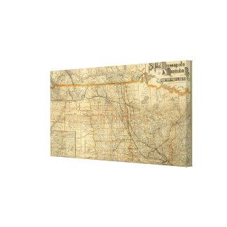 Ferrocarril de San Pablo, de Minneapolis y de Mani Impresión En Lienzo
