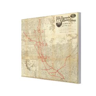 Ferrocarril de San Pablo, de Minneapolis y de Mani Impresiones En Lona Estiradas