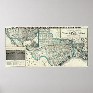Ferrocarril de Tejas el Pacífico Impresiones