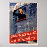 Ferrocarril de URSS Unión Soviética 1939 Posters