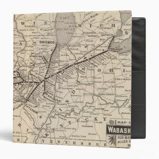"""Ferrocarril de Wabash del mapa Carpeta 1 1/2"""""""