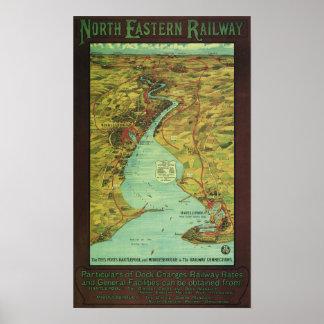 Ferrocarril del este de Norh - Londres Póster