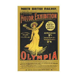 Ferrocarril del este de Norh - Olympia Londres Impresión De Lienzo