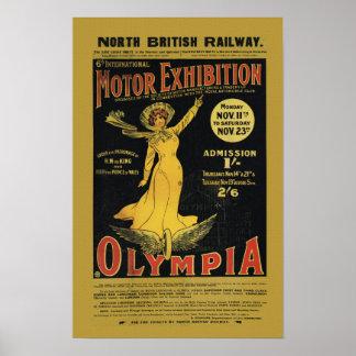Ferrocarril del este de Norh - Olympia Londres Póster