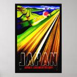 Ferrocarril del japonés de Japón de la impresión d Posters