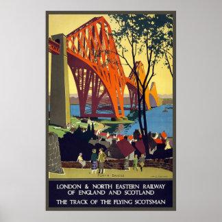 Ferrocarril del noreste de Inglaterra y de Escocia Póster