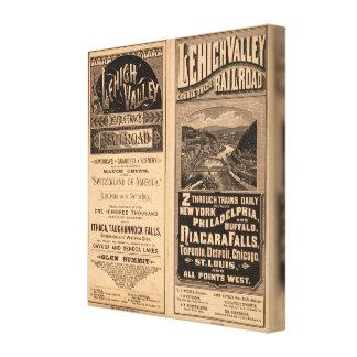 Ferrocarril del valle de Lehigh Impresiones En Lona