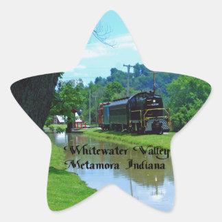 Ferrocarril del valle de Whitewater Colcomanias Forma De Estrella