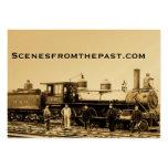 Ferrocarril del vintage de B&O Plantilla De Tarjeta Personal