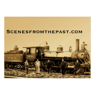 Ferrocarril del vintage de B&O Tarjetas De Visita Grandes