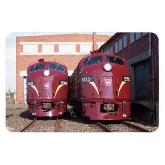 Ferrocarril E-8a, s (JTFS) 5809 y 5711 de Pennsylv Imán