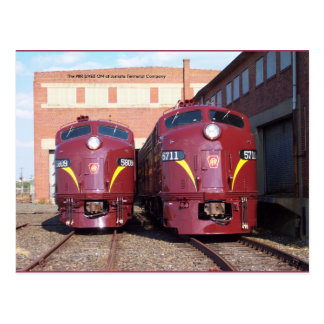 Ferrocarril E-8a s JTFS 5809 y 5711 de Pennsylv Postales